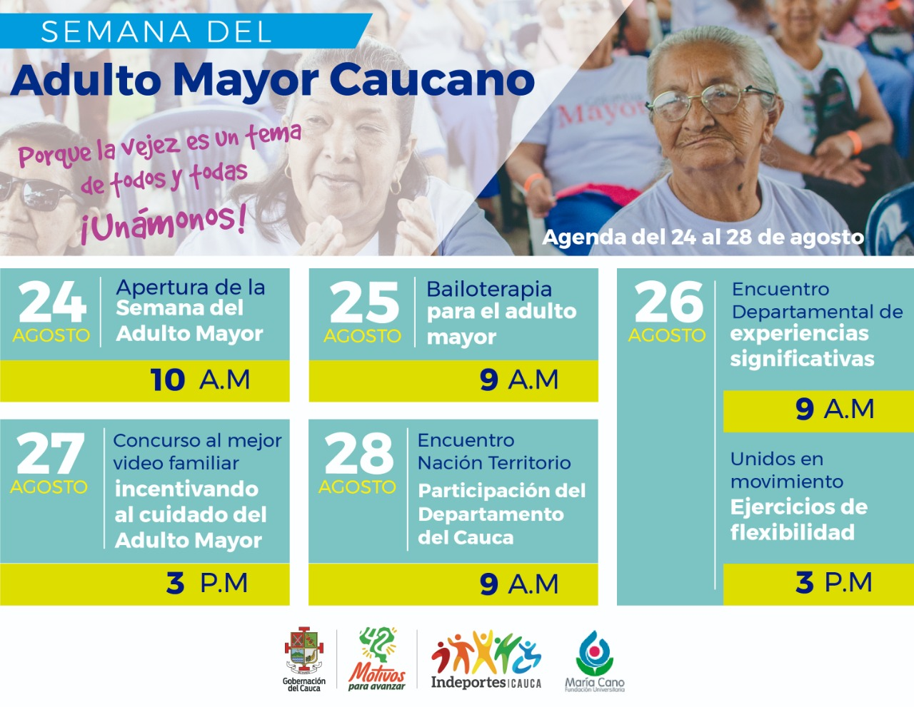 AGENDA SEMANA ADULTO MAYOR CAUCANO